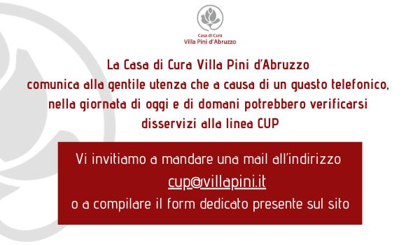 Disservizio Linea CUP pop up