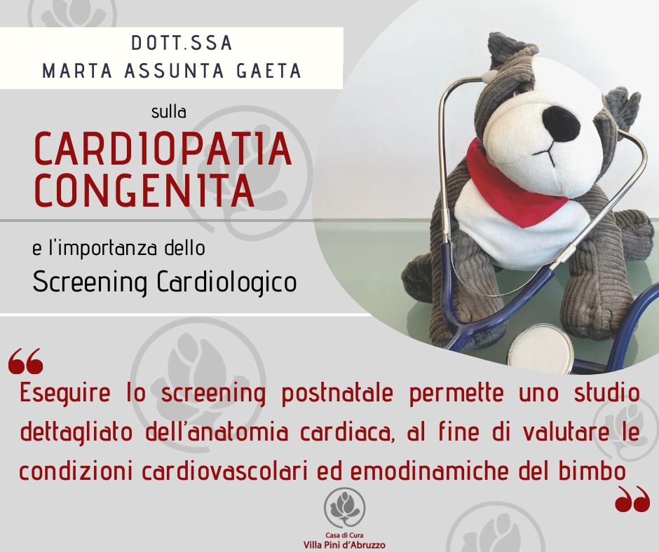 Dott.ssa Marta Assunta Gaeta: le Cardiopatie Congenite