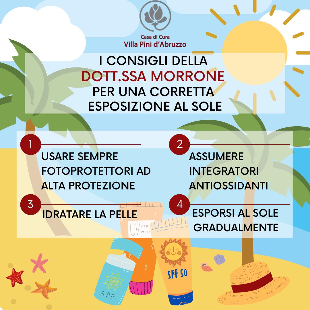I consigli della Dott.ssa Morrone per una corretta esposizione al sole